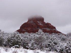 セドナ・ベルロックの雪景色