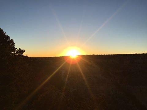 グランドキャニオンの夕日